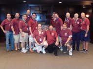 Knights of Council 14360 gather at the K of C Museum for a summer meeting (7/27/13)